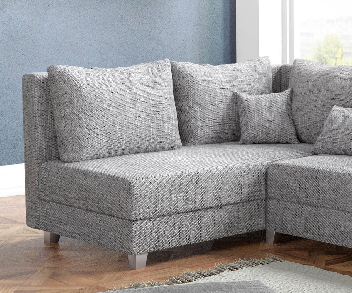 ecksofa panama hellgrau ottomane links mit hocker modulsofa m bel sofas ecksofas. Black Bedroom Furniture Sets. Home Design Ideas