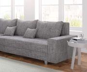 Couch Panama Hellgrau Ottomane links Ecksofa modular [12522]