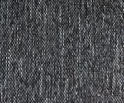 Couch Panama Schwarz Ottomane links mit Hocker Ecksofa modular [12525]
