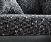 Couch Panama Schwarz Ottomane rechts Ecksofa modular [12528]