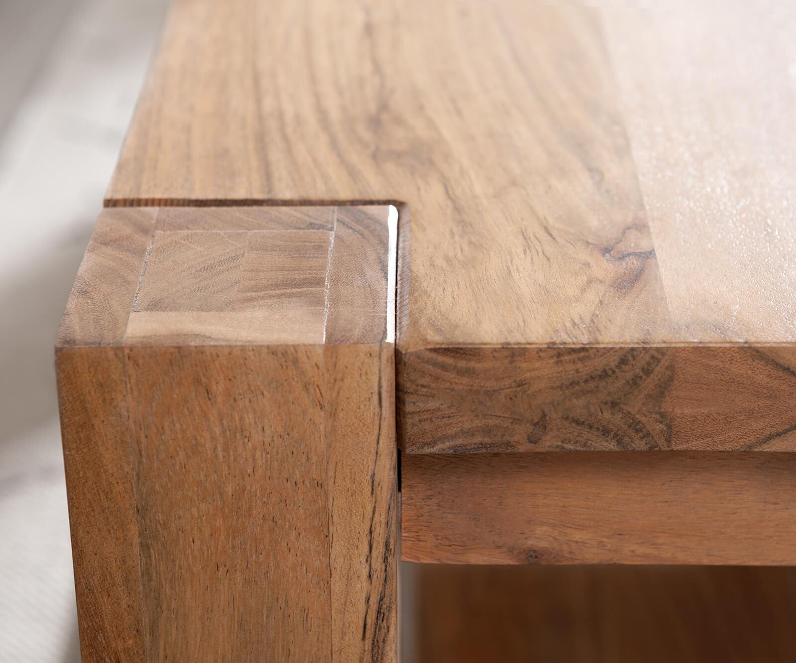 Salontafel indra acacia natuur 120x70 massief houten plankje meubels