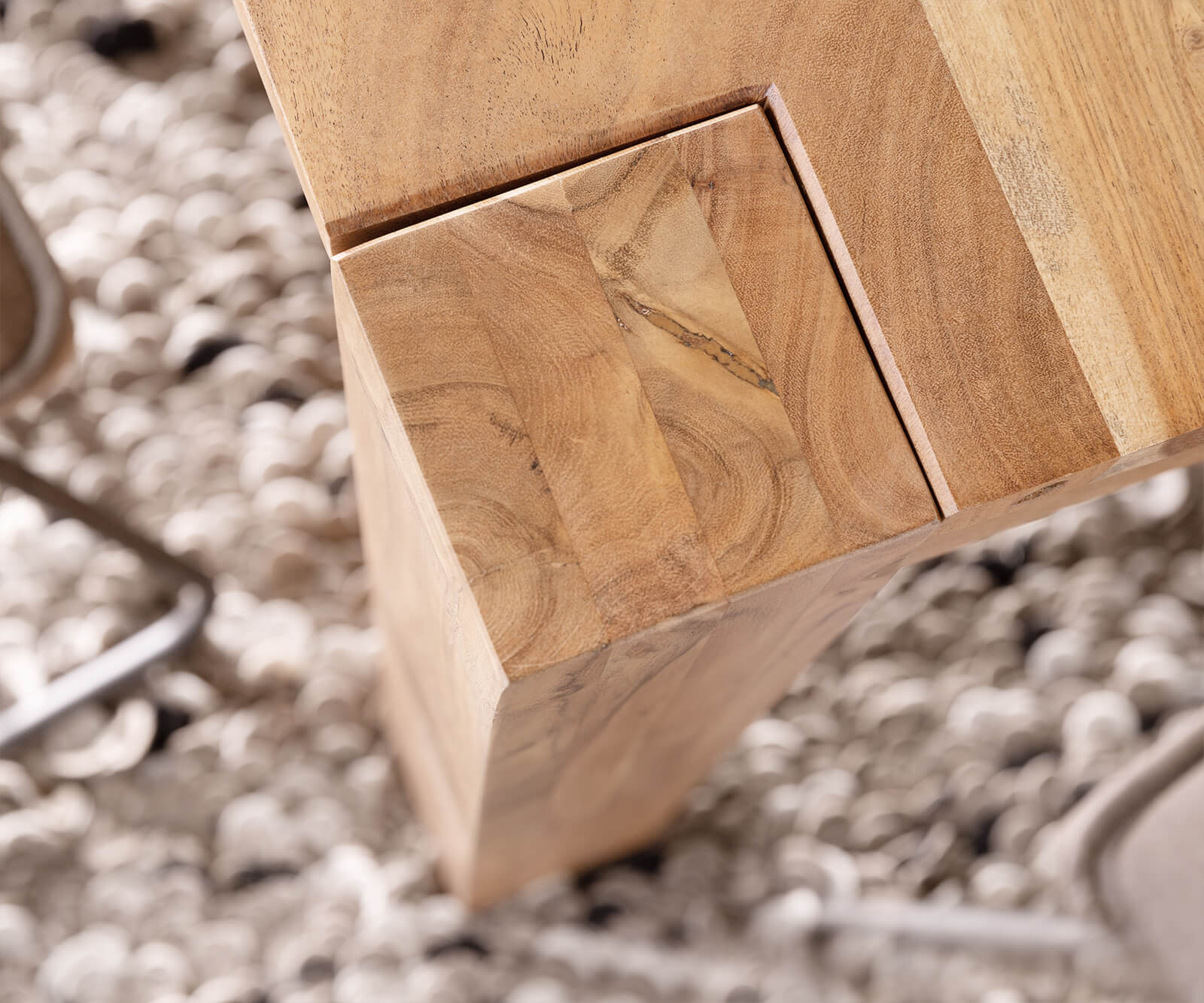 Tisch 60x60 Ausziehbar.Esszimmertisch Indra Akazie Natur 140 240x90 Cm Massivholz