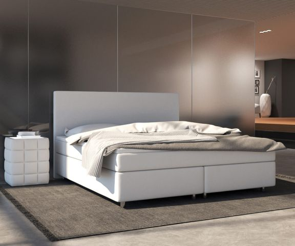 Boxspring-bed Cloud 140x200 cm wit Topper en matras 1