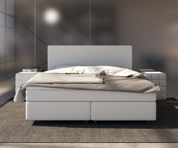 Boxspring-bed Cloud 140x200 cm wit Topper en matras 3