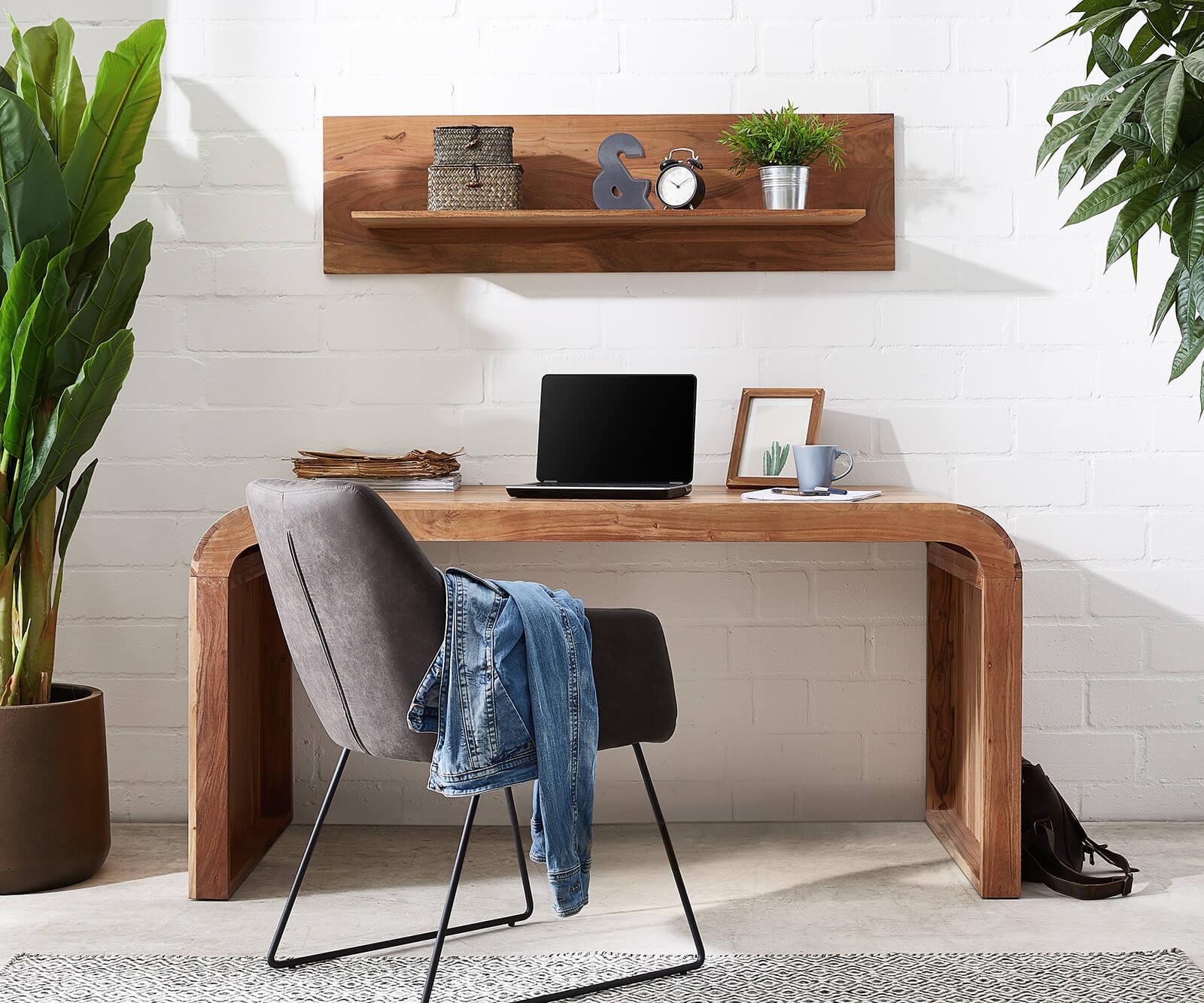 Schreibtisch Wally 160x75 cm Akazie Natur Massivholz