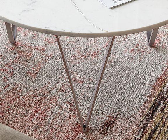 Salontafel Luminoso 80x80 cm marmer wit met metalen frame 3