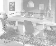 Esszimmertisch Indra Akazie Champagner 200x100 Massivholz Säulentisch Esstisch [12961]