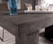 Esszimmertisch Indra Akazie Platin 200x100 cm Massivholz Säulentisch Esstisch [12976]