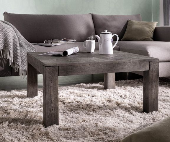 Salontafel Indra acacia platina  80x80 cm massief hout 1