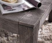 Wohnzimmertisch Indra Akazie Platin 80x80 cm Massivholz Couchtisch [12980]