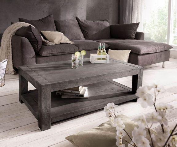 Salontafel Indra acacia platina 120x70 massief hout 1