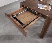Esszimmertisch Indra Akazie Braun 140/240x90 cm Massivholz ausziehbar Esstisch [12987]