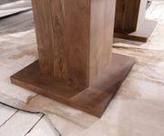 Esszimmertisch Indra Akazie Braun 200x100 cm Massivholz Säulentisch Esstisch [12992]