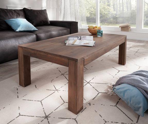 Salontafel Indra acacia bruin 120x70 cm massief hout  1