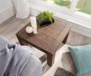 Dekotisch Indra Akazie Braun 60x60 cm Massivholz quadratisch Beistelltisch [13000]