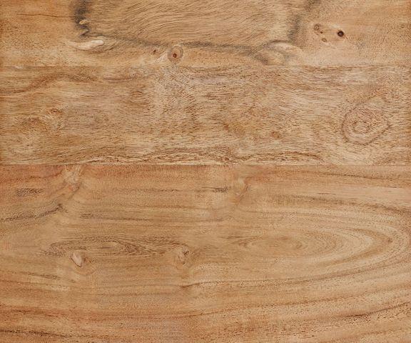 Bijzettafel Tatius acacia natuur 28x28 roestvrij stalen frame  3