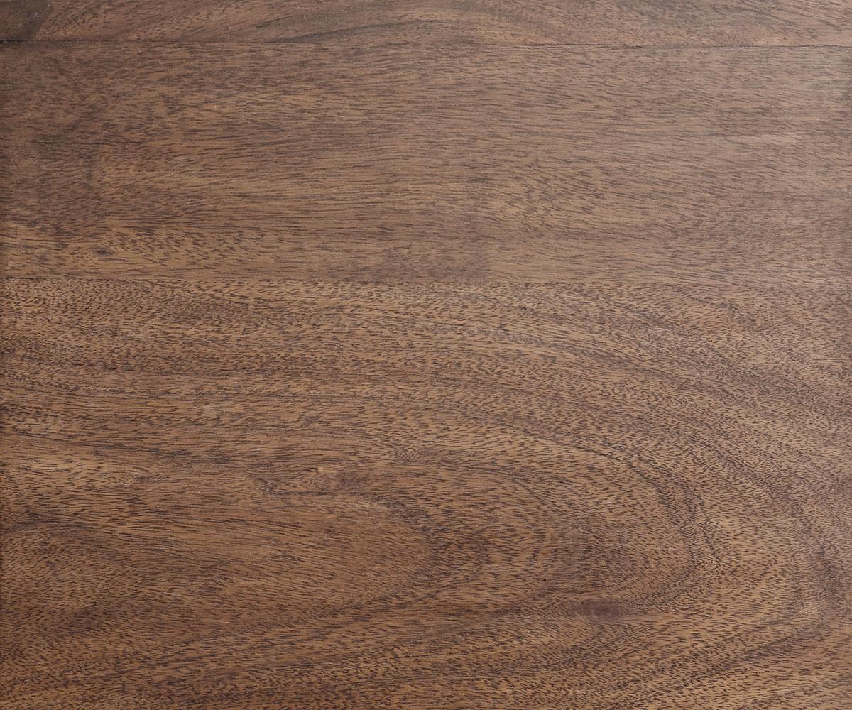 Couchtisch Tatius 45x45cm Akazie Braun Gestell Edelstahl