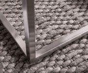 Wohnzimmertisch Tatius Akazie Braun 60x60 Gestell Edelstahl Industrial Style [13020]