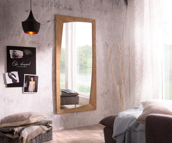 Designer-wandspiegel Wyatt 160x70 cm acacia natuur 1