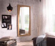 Spiegel Wyatt Akazie Natur 160x70 cm Unregelmäßig Design Wandspiegel [13042]