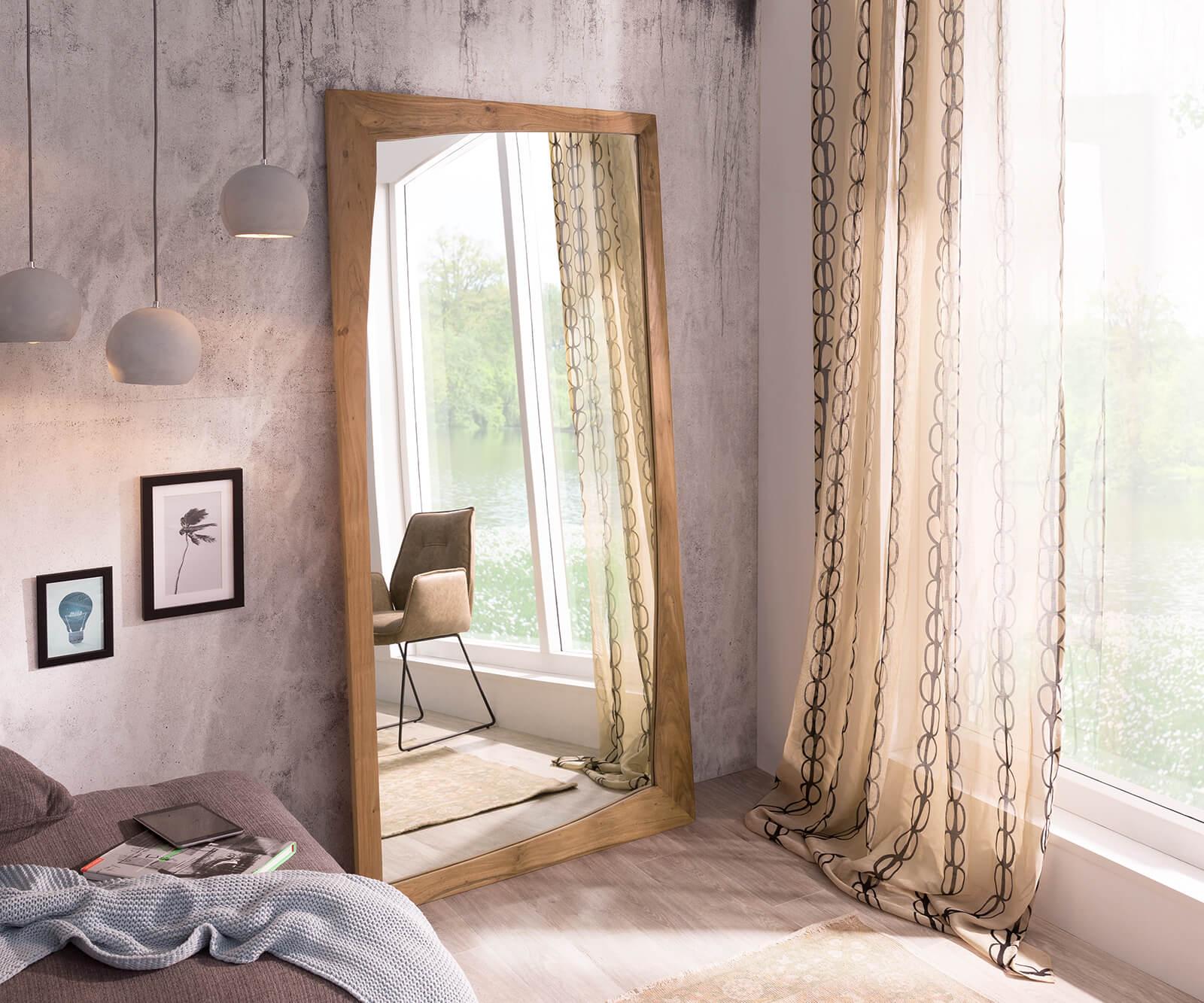 design wandspiegel wyatt 200x100 cm akazie natur m bel. Black Bedroom Furniture Sets. Home Design Ideas
