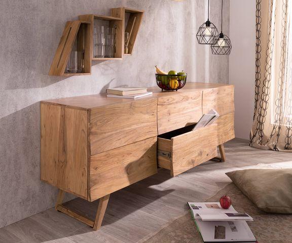 Design dressoir Wyatt 177 cm acacia natuur 2 deuren 1