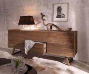 Kommode Wyatt Akazie Braun 177 cm mit 2 Türen 2 Schübe Design Sideboard [13047]