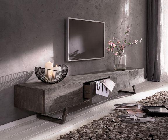 Designer-Lowboard Wyatt 220 cm platina 4 laden 1