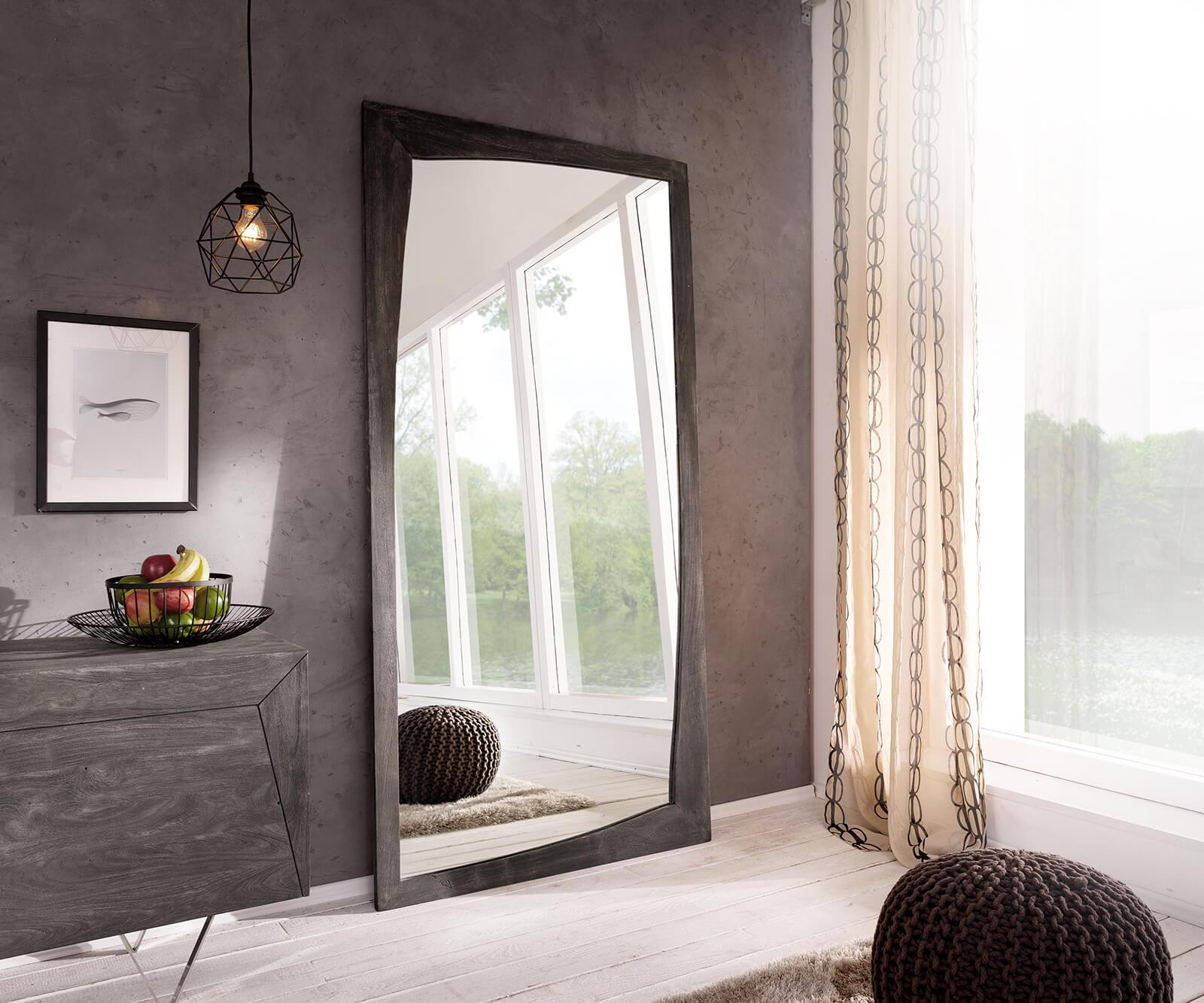 design wandspiegel wyatt 200x100 cm akazie platin m bel. Black Bedroom Furniture Sets. Home Design Ideas