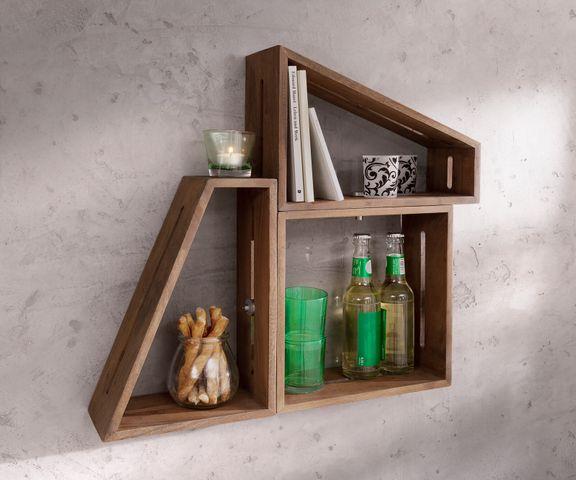 Design-wandplank Wyatt 70x55 cm acacia bruin set van 3 stuks  1