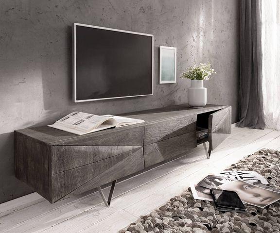 Tv-meubel Wyatt 175 cm acacia platina 1 Klep  1