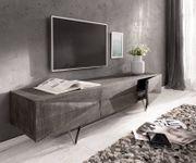 Fernsehtisch Wyatt Akazie Platin 175 cm 2 Türen 1 Klappe Design Lowboard [13078]