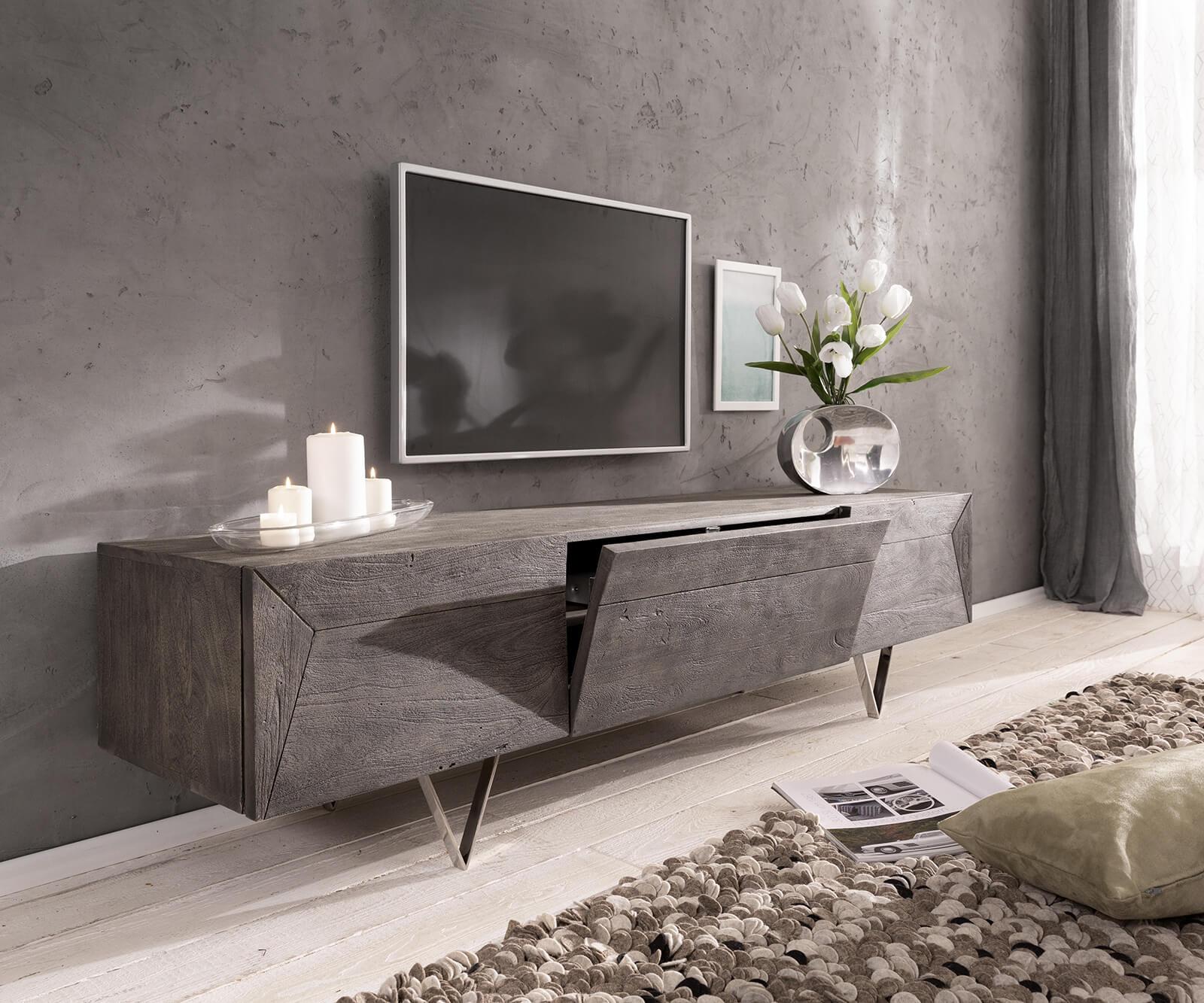 delife-design-lowboard-wyatt-175-cm-akazie-platin-2-turen-1-klappe-fernsehtische