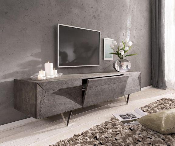 Tv-meubel Wyatt 175 cm acacia platina 2 deuren 1 klep 1