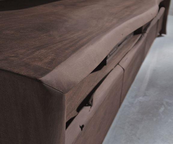 TV-meubel Live-Edge 230 cm vaste acaciakoffie 4 laden 3
