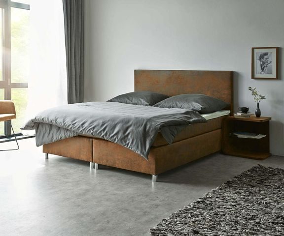 Boxspring-bed Cloud 160x200 cm bruin topper en matras 1