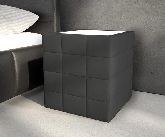 Nachtkastje Nuncia big 41x41 zwart LED-verlichting met zwarte LED verlichting 1