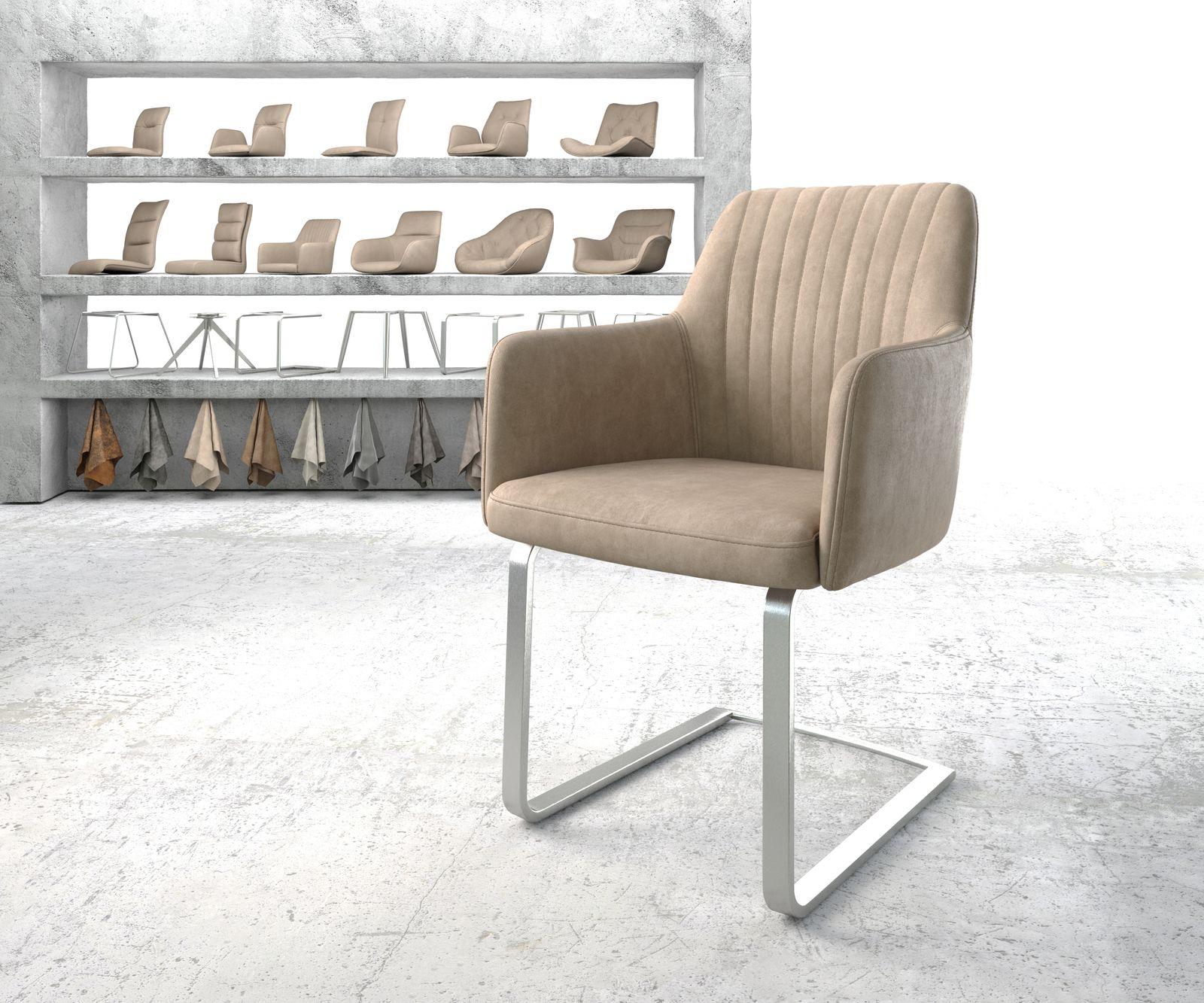 delife-armlehnstuhl-greg-flex-beige-vintage-freischwinger-flach-edelstahl-esszimmerstuhle