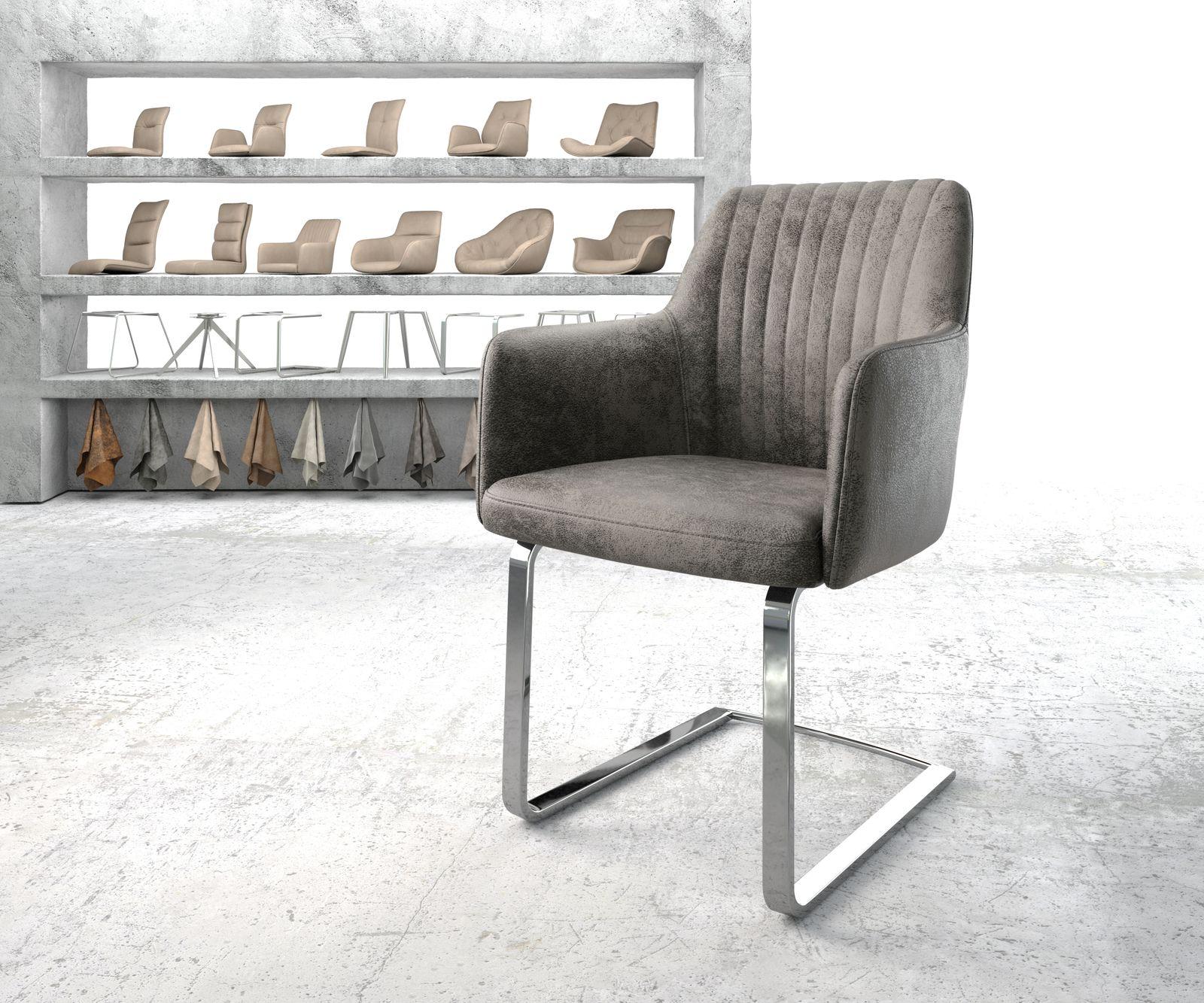 delife-armlehnstuhl-greg-flex-grau-vintage-freischwinger-flach-verchromt-esszimmerstuhle