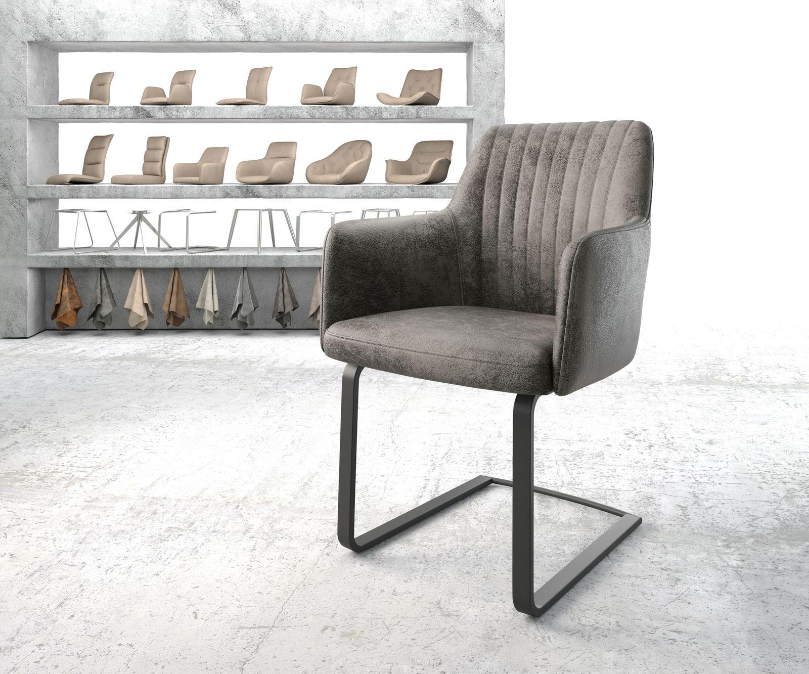 delife-armlehnstuhl-greg-flex-grau-vintage-freischwinger-flach-schwarz-esszimmerstuhle