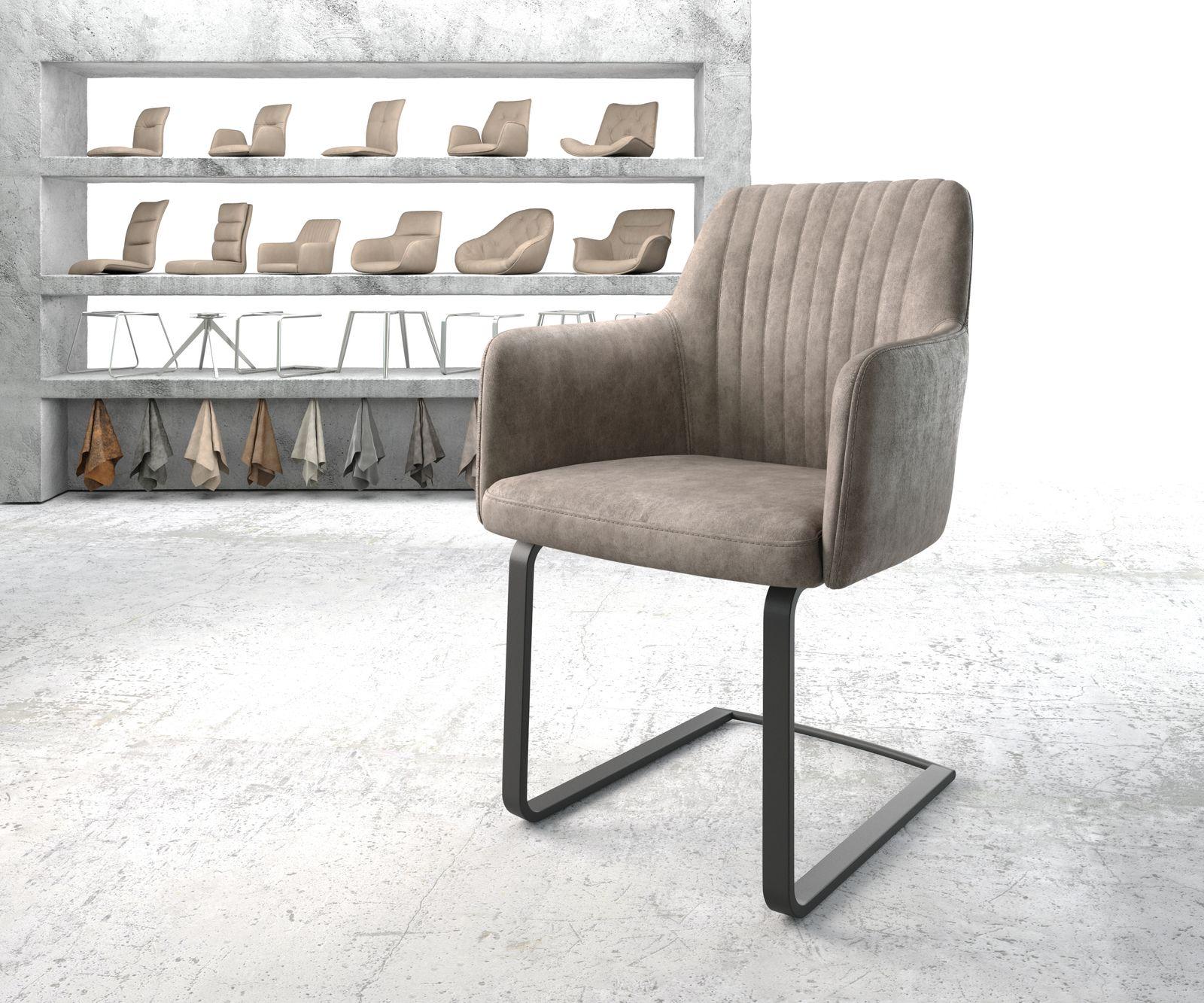 delife-armlehnstuhl-greg-flex-taupe-vintage-freischwinger-flach-schwarz-esszimmerstuhle