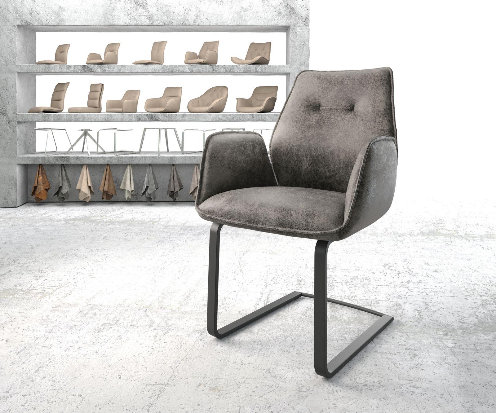delife-armlehnstuhl-zoa-flex-grau-vintage-freischwinger-flach-schwarz-esszimmerstuhle