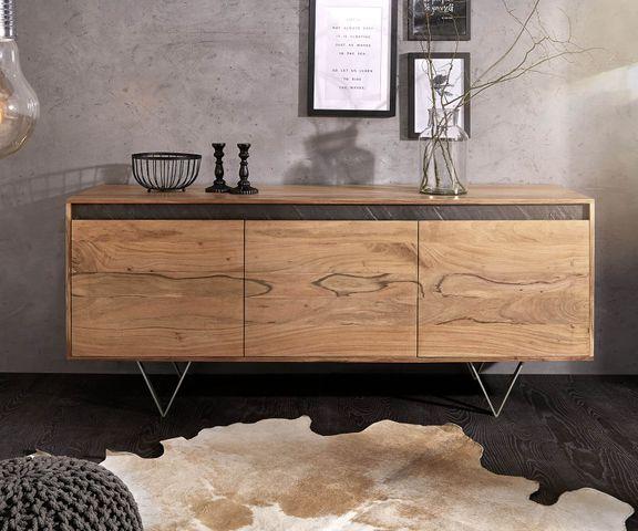 Design-dressoir Stonegrace 175 cm acacia natuur 3 deuren  2