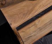 Fernsehtisch Stonegrace Akazie Natur 240 cm 4 Türen Design Lowboard [13947]