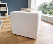 Sitzhocker Dado Weiss 45x45 cm Sitzwürfel [2455]