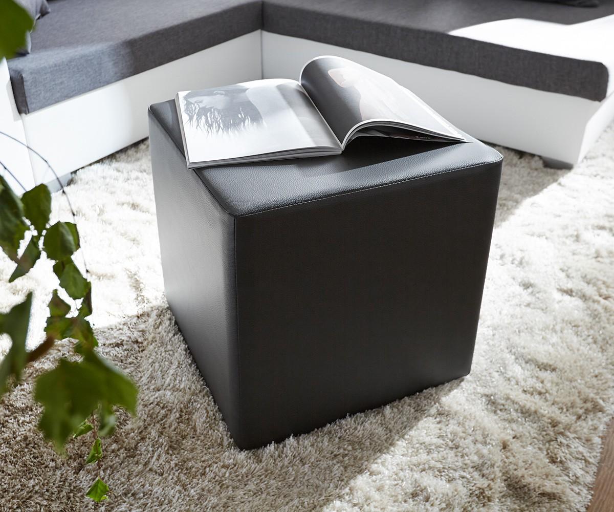 Sitzhocker Dado 45x45 cm Schwarz