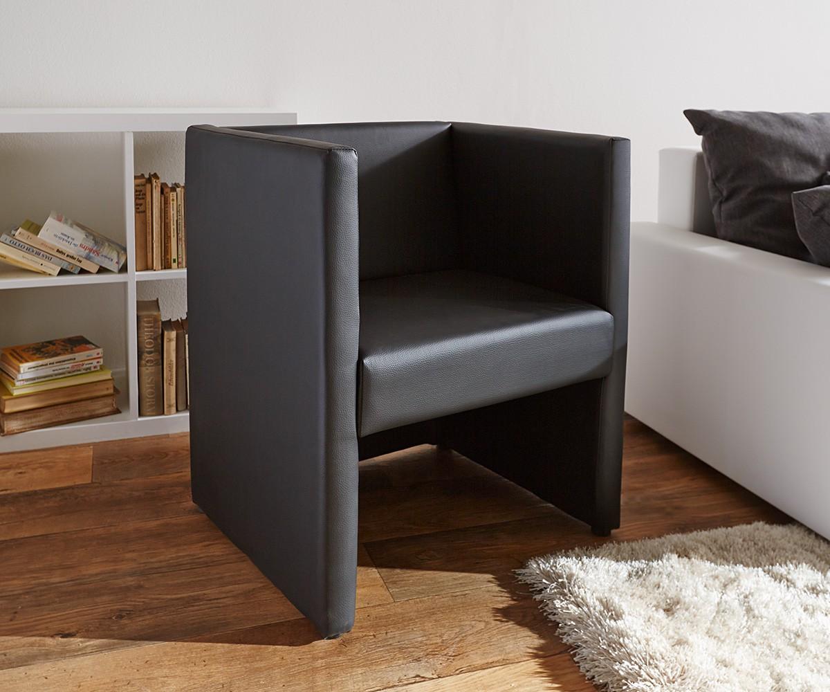 Moderne cocktailstoel Picasso zwart