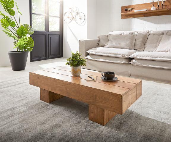 Salontafel Harri 115x45 cm acacia natuur massief hout 1