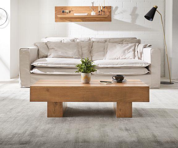 Salontafel Harri 115x45 cm acacia natuur massief hout 2