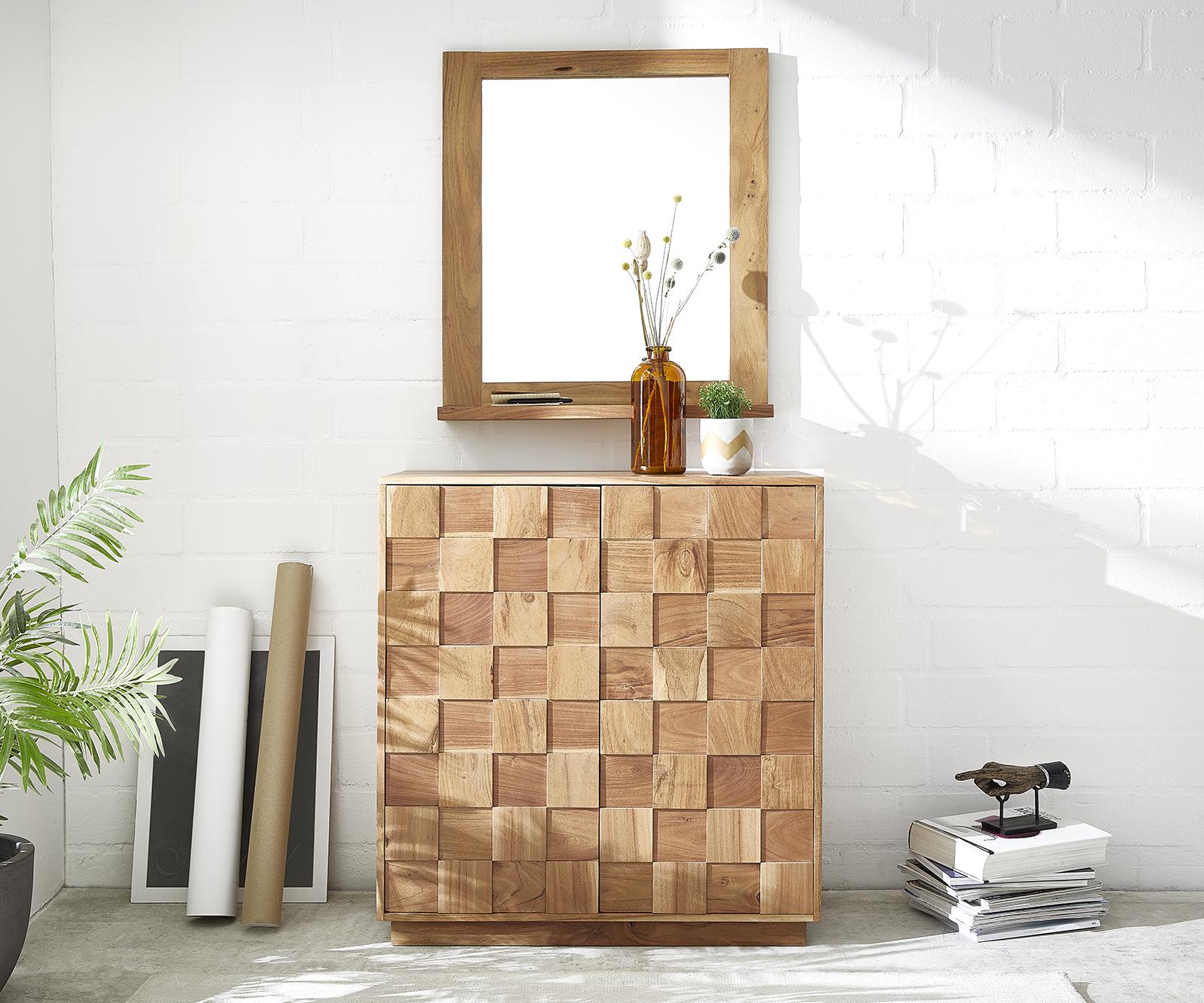 Sideboard Grace 83 cm Akazie Natur Handmade Massivholz